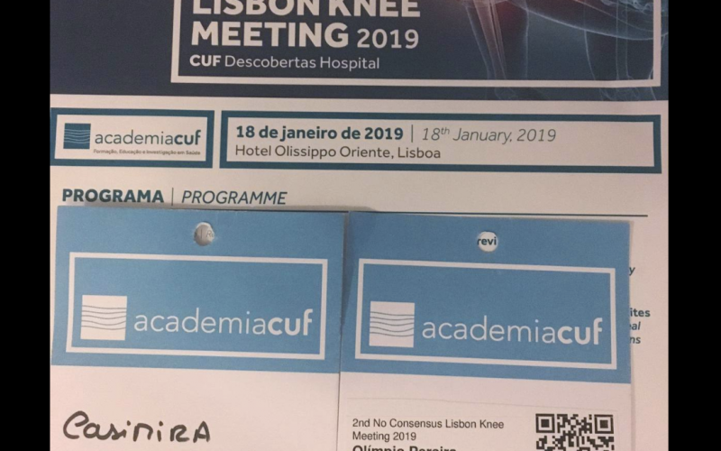 Fisio Roma no No Consensus Lisbon Knee Meeting 2019 FisioRoma